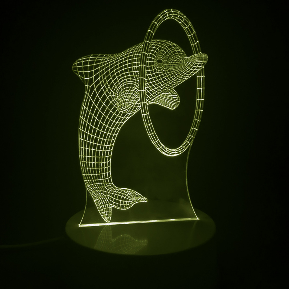 Dolphin illusion picture impremedia wholesale 1pcs multi colored bulbing light dolphin 3d optical illusion desk night light led table lamp reviewsmspy