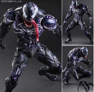 ФОТО new spider man action figure venom spride collection model toys play arts kai action figure amazing spiderman play arts venom