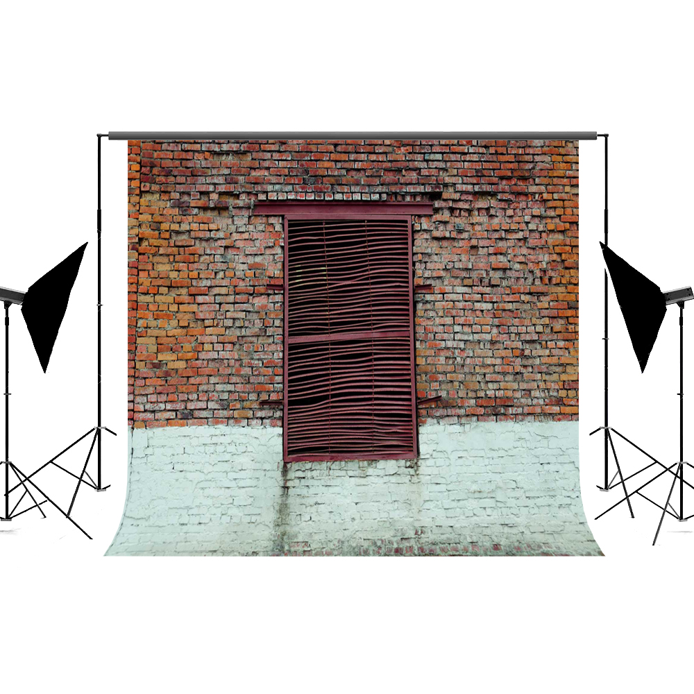 Kate Red Brick Wall Photo Studio Background Cloth Door Photography Backdrop Microfiber Wrinkle Free Photography Backdrop