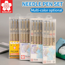 SAKURA Needle Pen Hand-painted Comics Design Sketch Needle For Drawing Pigma Micron Liner Brushes Hook Line Pen Art Supplies