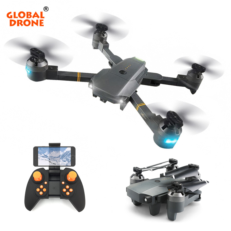 Global Drone Selfie Drone Professional Helicopter Wifi Phone Control RC Quadcopter Foldable Drones with Camera HD vs xs809hw xs809hw fpv dron selfie drones with camera hd 2mp folding quadcopter one key return headless rc helicopter remote control toys