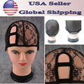 2 Comb M/L Size Left U Part Weaving Wig Cap Foundation Inside inner  for Wig Making Hair Extension weft DIY Black Color