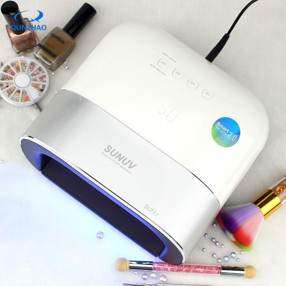 SUN3 UV LED Lamp Voor Nagels 48W nais machine Uvlamp Voor Manicure Nail Droger Professinal Gel Nail Machine Led gel Lampara-in Nagel Droger van Schoonheid op  Groep 1