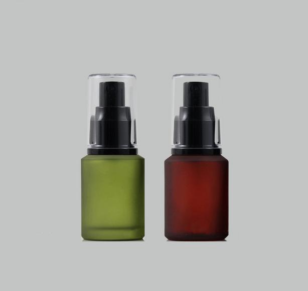 free shipping 30ml lucifugal glass spray bottle,fine mist cosmetic/perfume  packaging bottle ( red green ) black nozzle free shipping 100pcs 2017 new 6ml spray perfume bottle