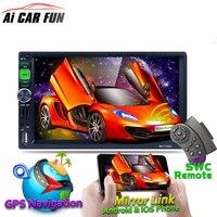 7 Full HD 1080 P автомобиля mp5 плеер GPS Навигатор Bluetooth AM/FM/RDS Радио Автомобильный Мультимедийный Плеер зеркало ссылка для Andriod и IOS