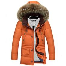 Men Duck Down Jacket 2016 Men's Winter Jackets And Coats Thick Warm Fashion Casual Hooded Fur Collar Removable Hood
