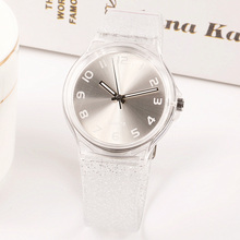 High Quality Harajuku Fashion Jelly Silicone Transparent Plastic Women Watches L