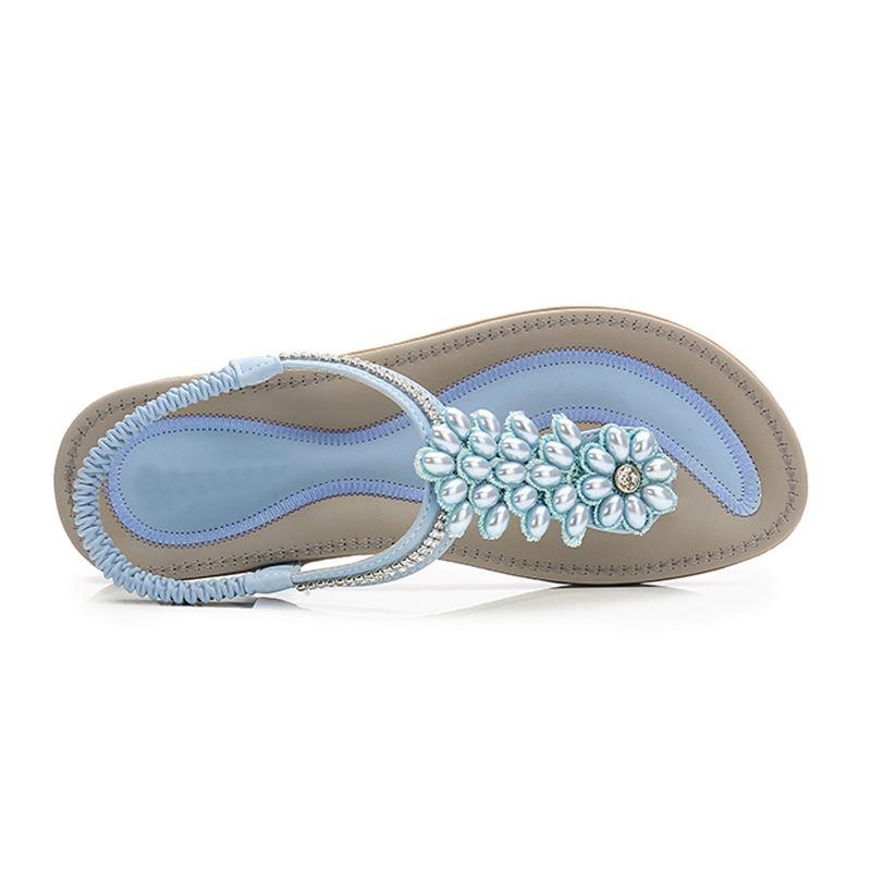 Image 4 - BEYARNES Fashion Women Beach Flip Flops Sandals Beading Ladies Teenslippers Women Summer Shoes breathable Comfortable SandalenWomens Sandals   -
