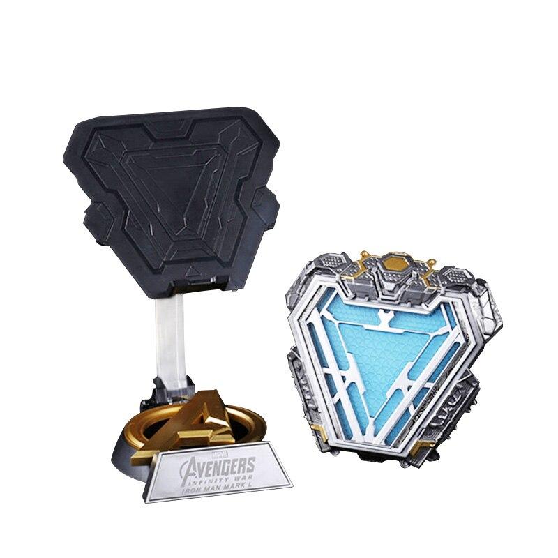 Avengers 1:1 echelle fer homme Arc réacteur 3 fer homme MK50 figurine arche réacteur portant coffre lumière LED modele lampe coffre