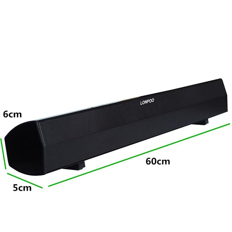 LONPOO Luidsprekers 10 W MP3 USB Luidspreker Hoofdtelefoon Soundbar - Draagbare audio en video - Foto 2