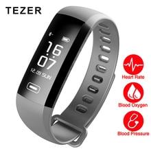 TEZER R5MAX смарт-Фитнес-Браслет Смотреть интеллектуальные кровяное давление пульс кислорода в Крови 50 ПИСЬМА SMS APP Сообщение нажмите