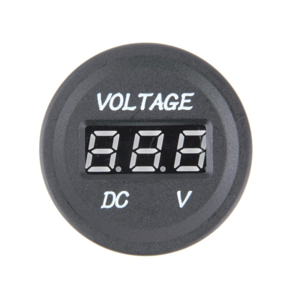 Professional Black 12 V-24 V DC LED Digital Display Auto Car Motorcycle voltmeter Metro Waterproof Voltmeter Socket стоимость
