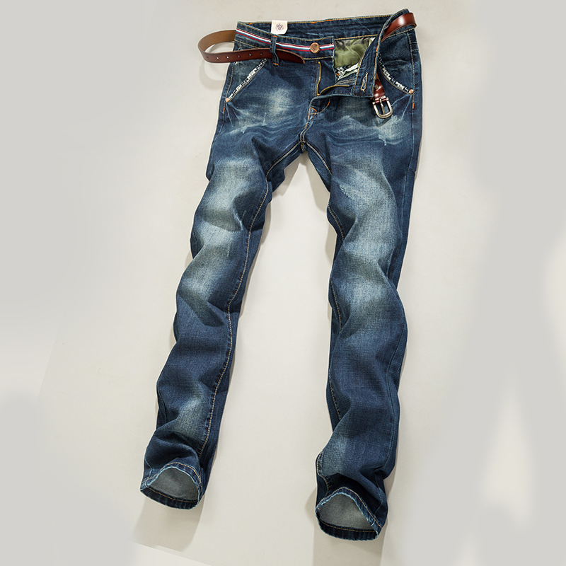 High quality famous brand upscale 100% cotton men jeans, top designer trouser European and American style pant for male