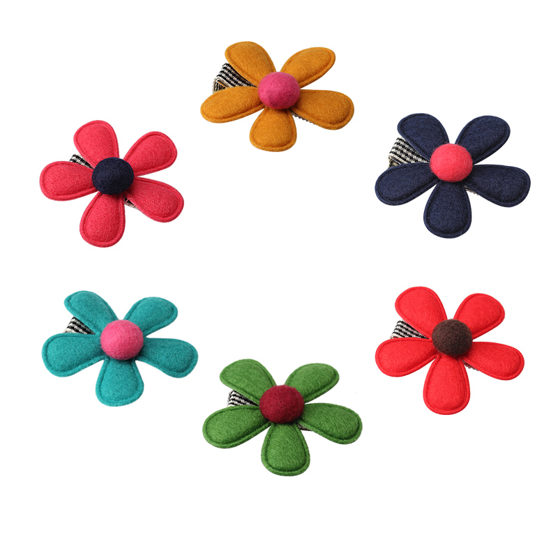 M MISM New Nonwoven Flower for Kids Hairgrip Girls Children Cute Hairpins Hair Accessories Ornaments Head Wear Hair Clips daily