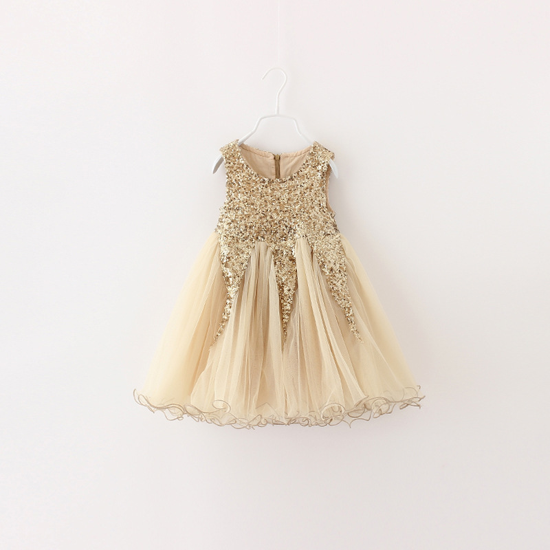 Sweet Girl 2018 New Kids Girls Sequin Dress Sleeveless Party Birthday Princess  Dress Christmas New Year Clothing Red pinnk gold-in Dresses from Mother ... ade5bb34a056