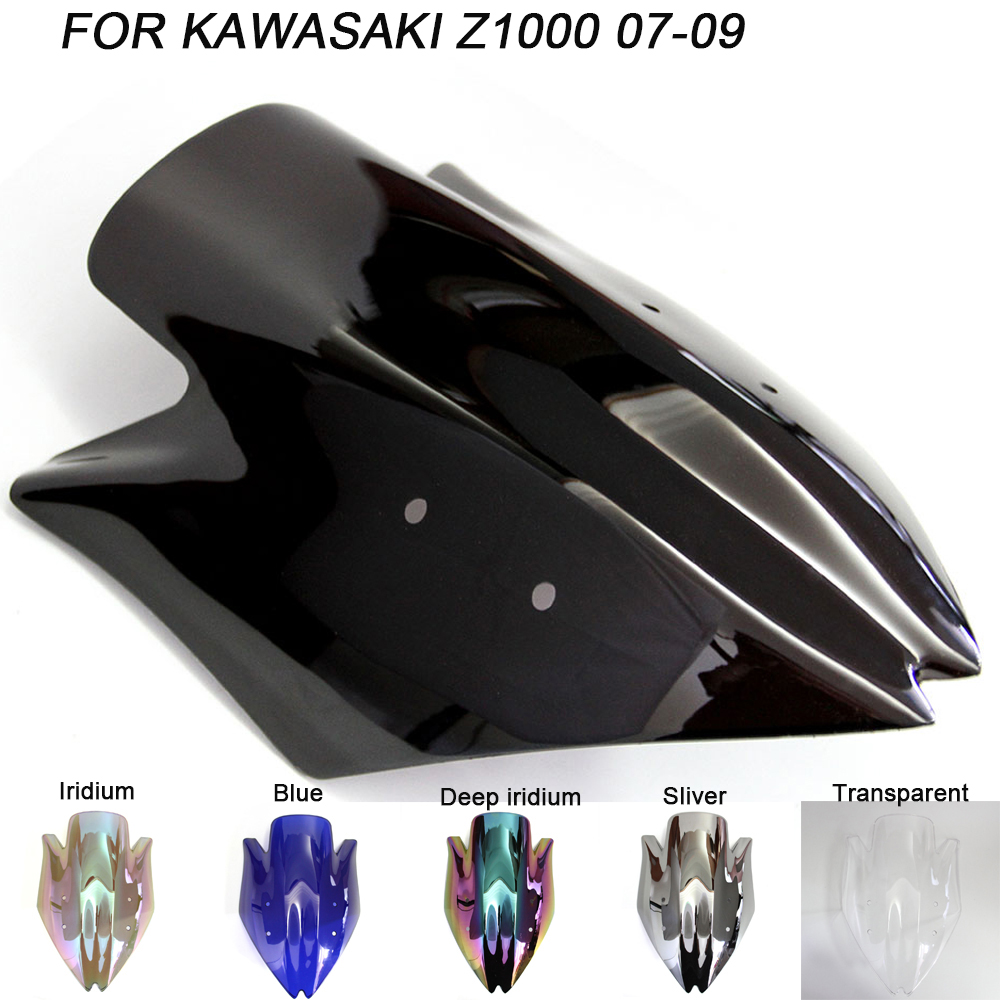 Windshield For Kawasaki Z1000 Z 1000 2007-2009 2007 2008 2009 Double Bubble Windscreen Wind Deflectors Motorcycle Motorbike Windshield For Kawasaki Z1000 Z 1000 2007-2009 2007 2008 2009 Double Bubble Windscreen Wind Deflectors Motorcycle Motorbike