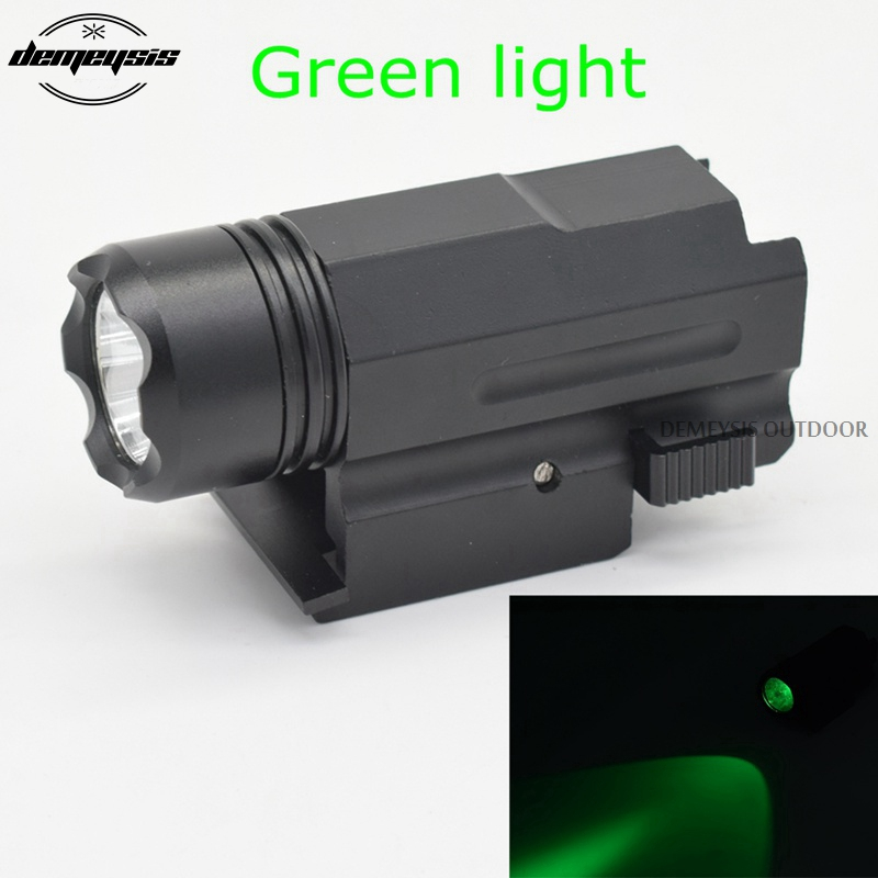 Pistol Airsoft Hunting Glock Gun Flashlight Weapon Green Light Tactical Torch 20mm Rail Mount Gun light for Glock 17 18 20