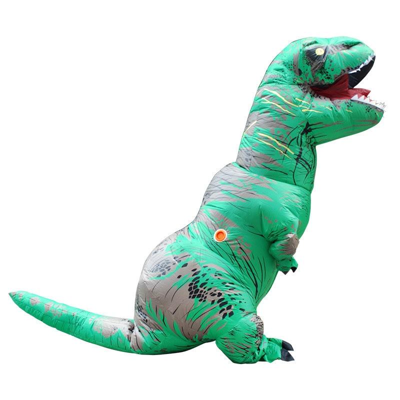 Adult Halloween Cosplay T REX inflatable Dinosaur Costume Dino Jumpsuit Fancy Dress Halloween Costume for Women or Men