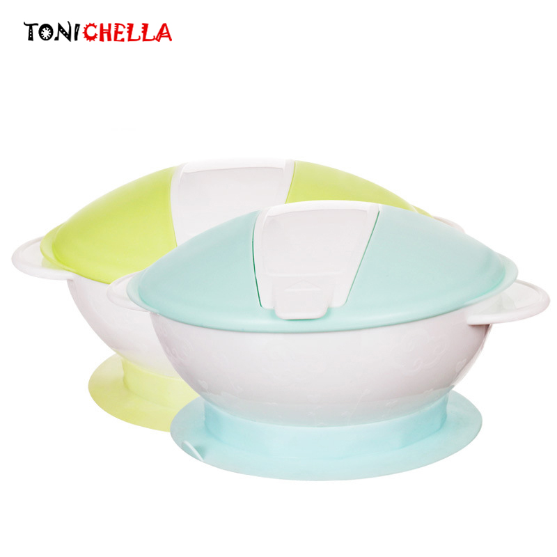 Силиконовые ребенка кормушки обучения детей блюд с ложкой Сильный всасывания помочь Еда высокое качество детской посуды CL5432