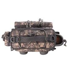 Noeby Fishing Bag 27.5*12*21cm Shoulder Fishing Tackle Bags Waterproof Backpack Handbag Crossbody Messenger Sling Bolsa Pesca