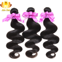 Ali Afee Hair Products Brazilian Body Wave 1 Pc 100 Human Hair Natural Black 100g Hair