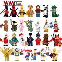 ce3642b8 Один Diy насосные legoingly рисунок Мультяшные персонажи история Единорог  Симпсоны E.T. Строительные блоки детские развивающие игрушки