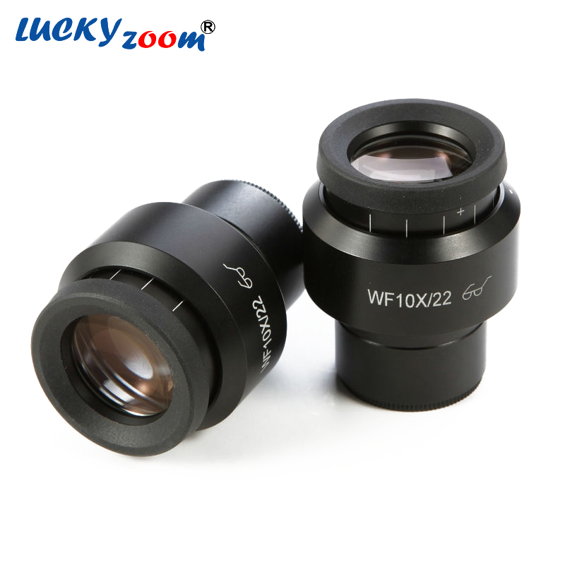 Lucky Zoom Brand High Point Wide Field Binocular Trinocular Microscope Eyepiece WF10X/22MM 30mm Microscopio Lenes Free Shipping