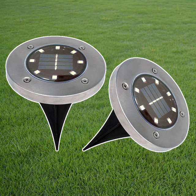 TAMPROAD 4 Pieces/lot Solar Powered Lamp 8 LED Light Outdoor Lawn Lamps For  House