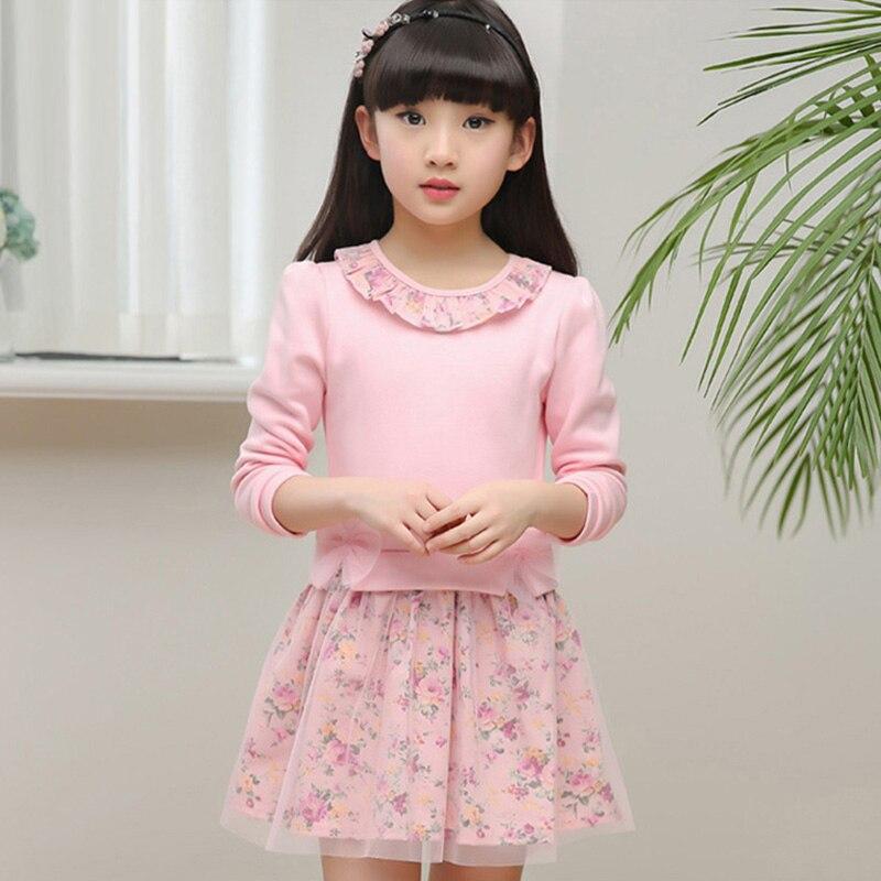 Frühling 2018 Kinder Baby Mädchen Floral Kleid Kleines Mädchen Prinzessin Kleid herbst Sommer Große Mädchen Kleider Für 2 3456789 10 11 12 jahre