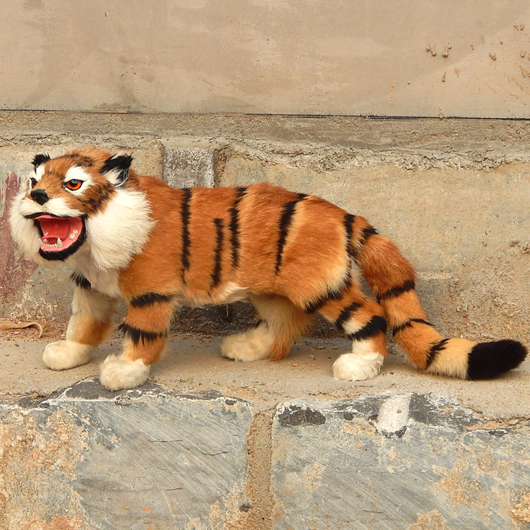 simulation tiger large 55x30cm yellow tiger toy fur hard model decoration gift h1238 large 30x20x15cm simulation white cat miaow sounds furry fur hard model home decoration christmas gift h1168