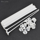 She Love 25pcs White Plastic Balloon Stick Support Rods Balloons Holder Sticks With Cup Wedding Party Decoration Accessories