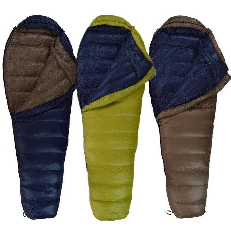 inverno para baixo sacos de dormir mumia 400g 600g 800g 1000g de pato para baixo manter