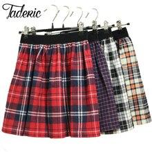 Jaderic/Новинка года; плиссированная мини-юбка в клетку для девочек; школьная форма для костюмированной вечеринки в японском стиле