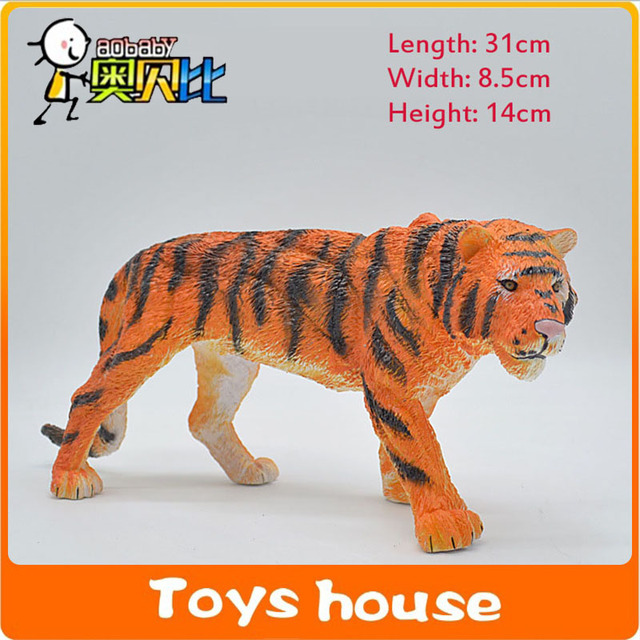 31cm Big Size Tiger Wild Animals Simulated Model Pvc Material Action