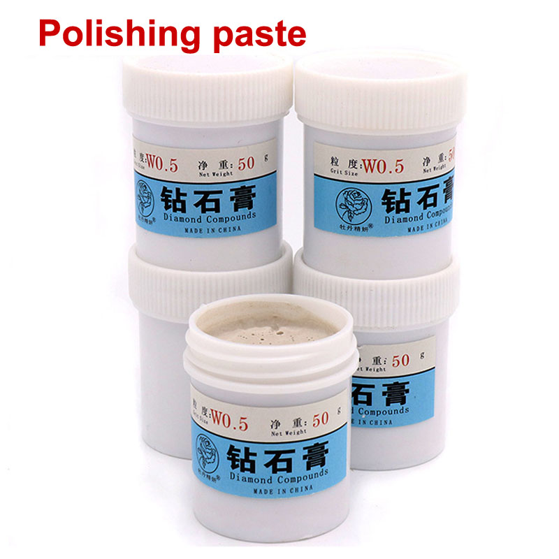 50g/pc Emerald Agate Crystal Ceramic Alloy Gypsum Metal Grinding Tool Diamond Polishing Lapping Paste Jade Polishing Paste