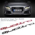 3D Quattro Эмблема Логотип Знак Автомобиля Передний Бампер Нижняя Грили Отделка RS Стиль наклейки Для Audi A4 A5 A6 A7 RS3 RS5 RS6 RS7 Q3 Q5 Q7
