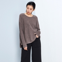 Women's High Quality Merino Wool Dress Simple Casual Long Sweater Dress