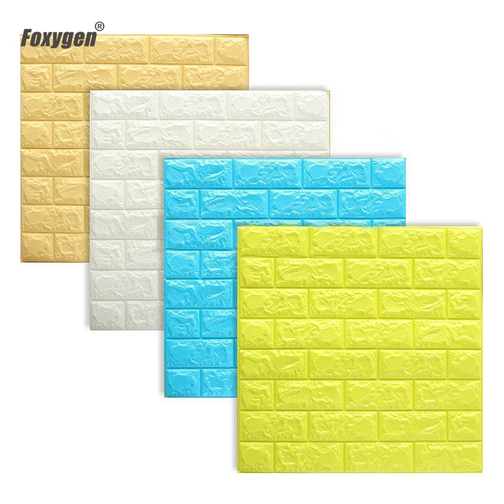 Safe for kids waterproof decorative material 3D XPE foam wall panel ...