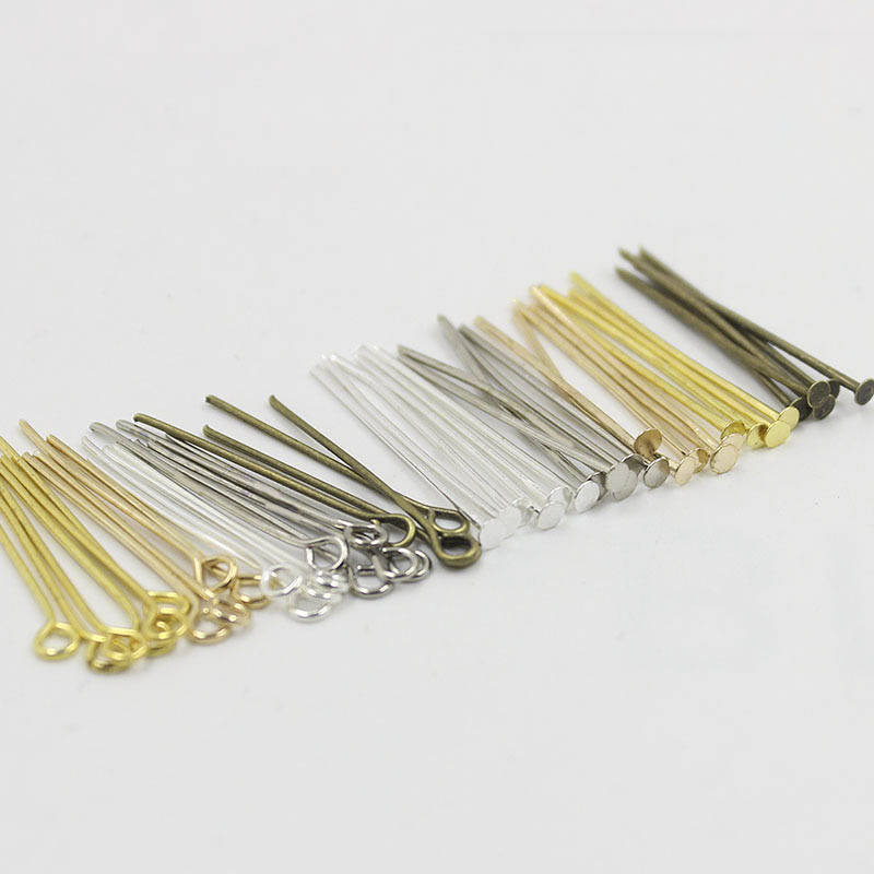 200-40 mm Silver Plated Flat Head Pins Jewellery Making Craft Findings