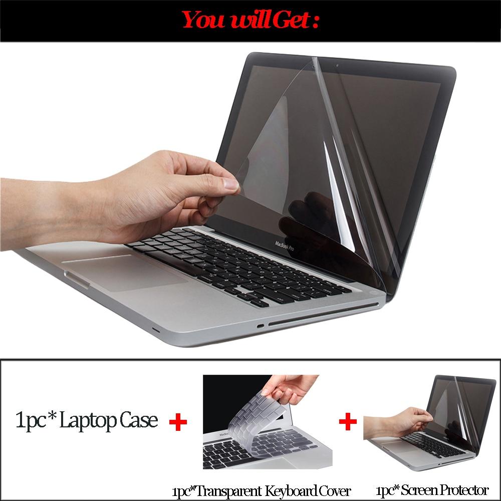 Shell Cover Laptop Case For Macbook Air 13 Pro Retina 11 12 13 15 - ლეპტოპის აქსესუარები - ფოტო 2