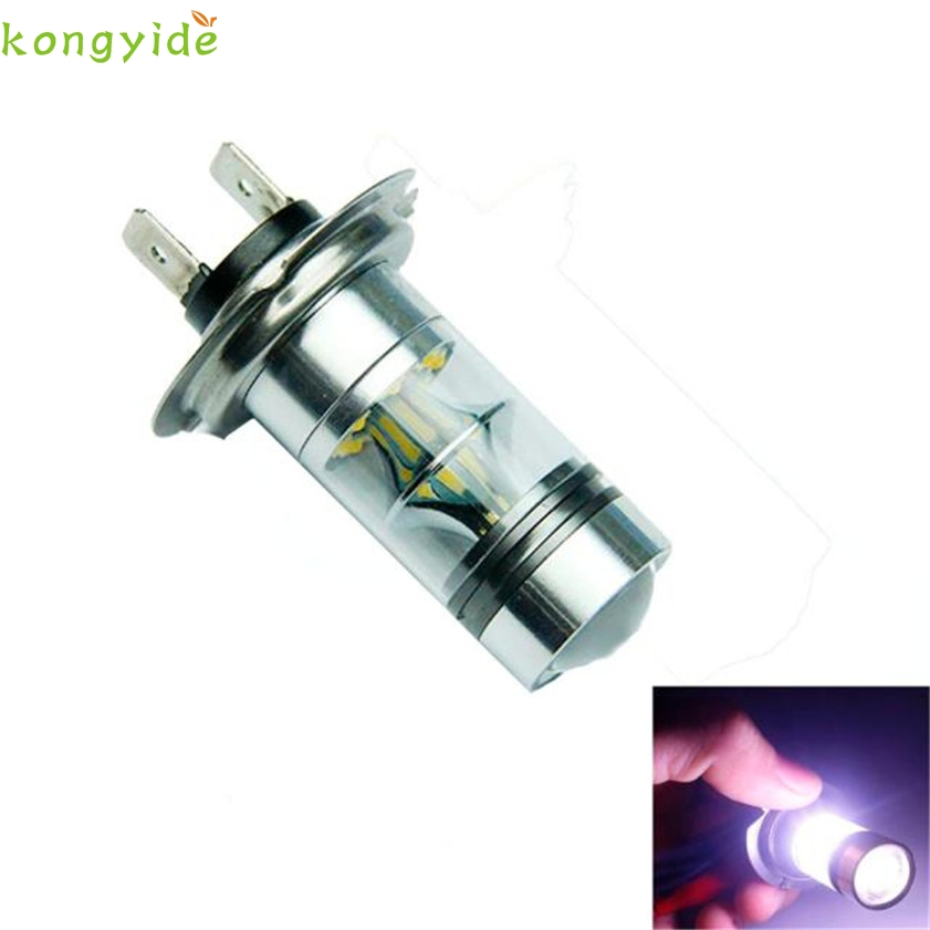 High Quality  H7 6000K 100W LED 20-SMD Creechip  Projector Fog Driving DRL Light Bulbs HID White 2pcs brand new high quality superb error free 5050 smd 360 degrees led backup reverse light bulbs t15 for jeep grand cherokee