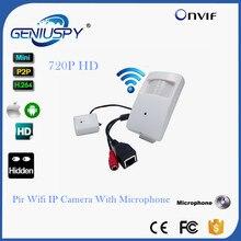 CCTV Mini Wifi IP Camera Wireless 720P HD P2P Onvif IP Camera Covert HD PIR STYL Mini Wireless IP Camera With Microphone