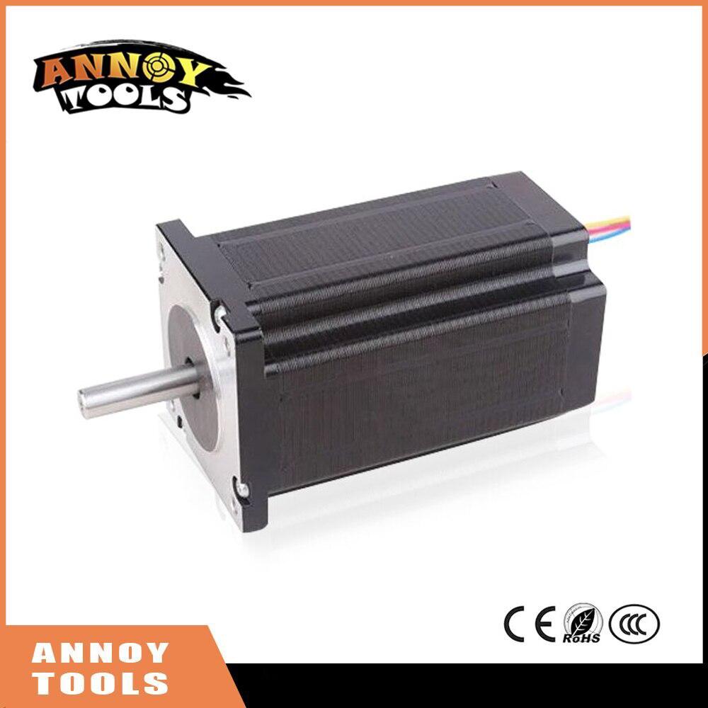 ANNOYTOOLS nema24 60HS 2 phase 1.8degrees hybrid stepper motor 2.4V 3A 16Kg.cm 56mm 60HS56-3004 DIY CNC Machine 3D printer 57hs82 3004 24v 57mm 3a nema23 57bygh 2 phase big square hybrid stepper motor