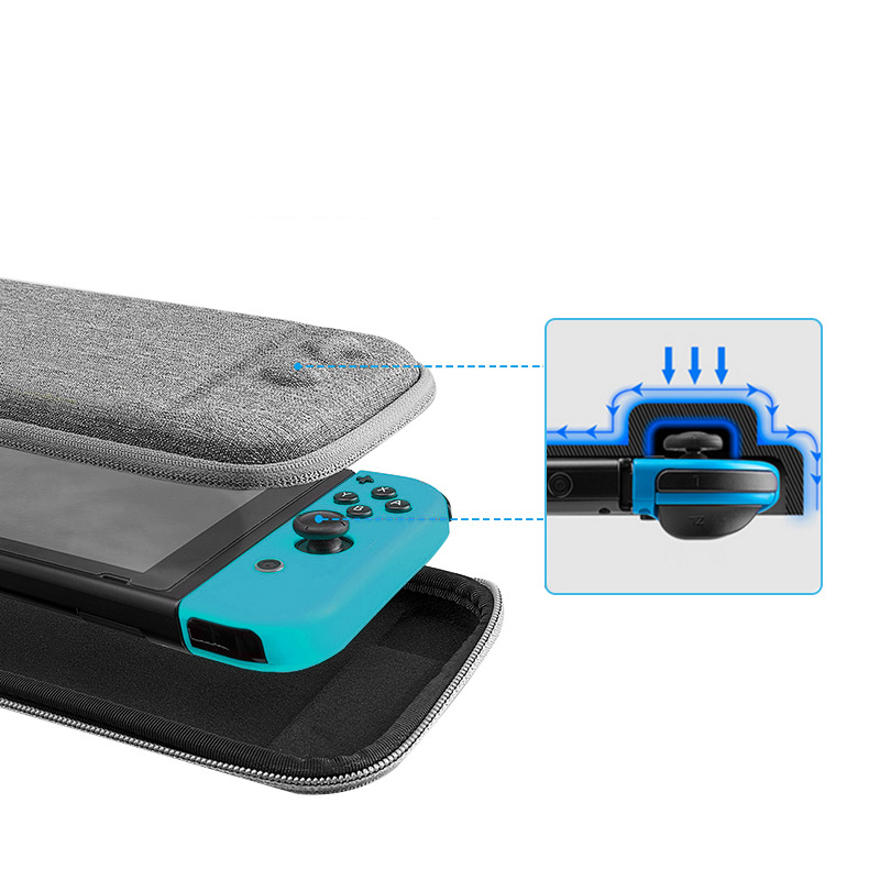 EVA Hard Bag Storage Travel Carry Pouch Case for Nintend Switch Protective Gray/Black Bags for NS Nintend Switch With Logo 1