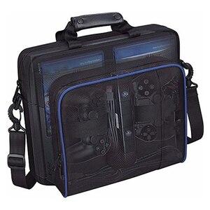Image 5 - Защитный чехол для игровой системы сумка на плечо сумка для путешествий Черный чехол для Sony Playstation 4 PS4 Slim