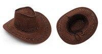Cowboy Cowgirl sombrero de la siesta del ante tela para baile de disfraces, partido del vestido de lujo nueva