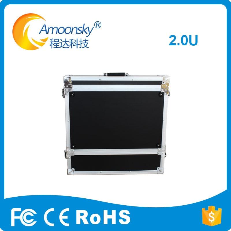 Processeur vidéo de AMS-FC02 de signe d'exposition de soutien de cas de vol de écran led 2U pour l'affichage mené d'intérieur de p2.5