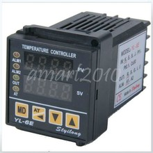 Big discount New YL-6E K type Dual Digital PID temperature Thermometer Control Controller -20 to 75 Degrees Celsius