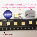 LG 500 шт. Innotek светодиодный ная подсветка 2 Вт 6 в 3535 холодный белый ЖК Подсветка для ТВ Приложение LATWT391RZLZK