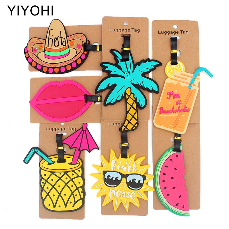 Travel Accessories Creative Fruit juice Luggage Tag Silica Gel Suitcase ID Addres Holder Baggage Boarding Tags Portable Label